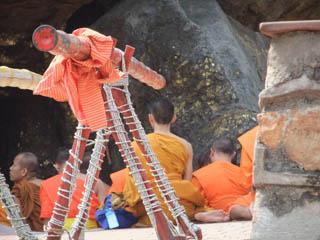 20110403TibetanMonksAtGridhrakuta-Rajgir.jpg